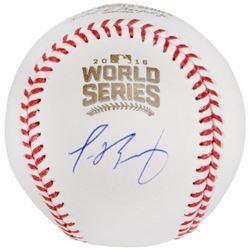 Javier Baez Signed 2016 World Series Baseball (Fanatics Hologram)