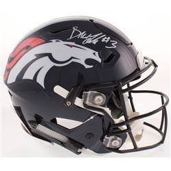 Drew Lock Signed Denver Broncos Full-Size Authentic On-Field SpeedFlex Helmet (Beckett COA)