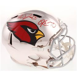 Kyler Murray  David Johnson Signed Arizona Cardinals Full-Size Chrome Speed Helmet (Beckett Hologram
