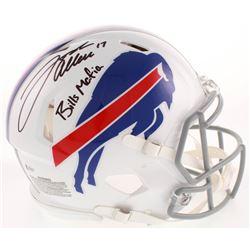 "Josh Allen Signed Buffalo Bills Full-Size Authentic On-Field Speed Helmet Inscribed ""Bills Mafia"" (B"