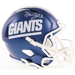 Daniel Jones Signed New York Giants Color Rush Full-Size Speed Helmet (Beckett COA)