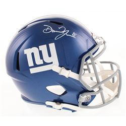 Daniel Jones Signed New York Giants Full-Size Speed Helmet (Beckett COA)