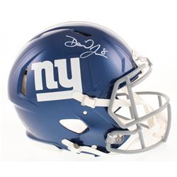 Daniel Jones Signed New York Giants Full-Size Authentic On-Field Speed Helmet (Beckett COA)