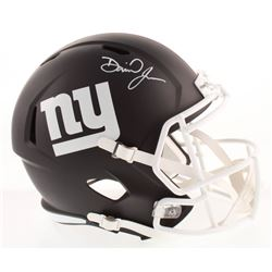 Daniel Jones Signed New York Giants Full-Size Matte Black Speed Helmet (Beckett COA)