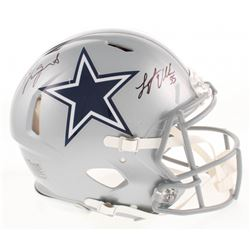 Jaylon Smith  Leighton Vander Esch Signed Dallas Cowboys Full-Size Authentic On-Field Speed Helmet (