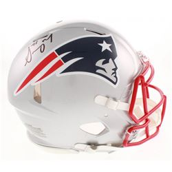 Sony Michel Signed New England Patriots Full-Size Authentic On-Field Speed Helmet (Beckett COA)