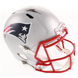 Damien Harris Signed New England Patriots Full-Size Speed Helmet (Beckett COA)