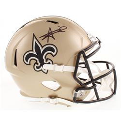 Alvin Kamara Signed New Orleans Saints Full-Size Speed Helmet (JSA COA)