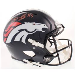 Drew Lock Signed Denver Broncos Full-Size Authentic On-Field Speed Helmet (Beckett COA)