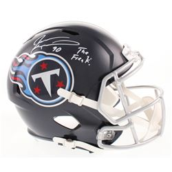 "Jevon Kearse Signed Tennessee Titans Full-Size Speed Helmet Inscribed ""The Freak!"" (Beckett COA)"