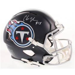 Chris Johnson Signed Tennessee Titans Full-Size Authentic On-Field Speed Helmet (Beckett COA)