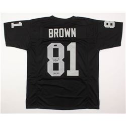 "Tim Brown Signed Jersey Inscribed ""HOF 2015"" (Radtke COA)"