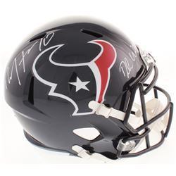Deshaun Watson  DeAndre Hopkins Signed Houston Texans Full-Size Speed Helmet (Beckett COA)