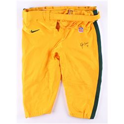 Brett Favre Signed Green Bay Packers Football Pants (Beckett COA)