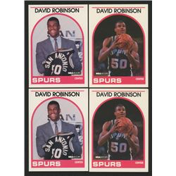 Lot of (4) David Robinson Basketball Cards with (2) 1989-90 Hoops #138 SP RC  (2) 1989-90 Hoops #310