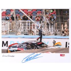 Christopher Bell Signed NASCAR 11x14 Photo - 2018 Phoenix Win Celebration (PA COA)
