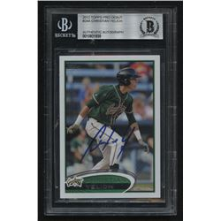 Christian Yelich Signed 2012 Topps Pro Debut #24A (BGS Encapsulated)
