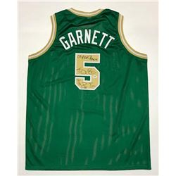 "Kevin Garnett Signed Jersey Inscribed ""08 NBA Champion""  ""The Big Tic"" (PSA COA)"