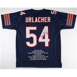 "Brian Urlacher Signed Career Highlight Stat Jersey Inscribed ""HOF 2018"" (JSA COA)"
