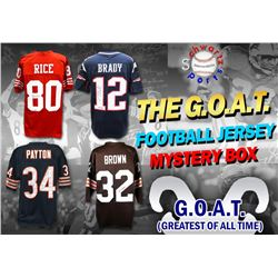 Schwartz Sports The G.O.A.T. Football Superstar Signed Jersey Mystery Box - Series 1 (Limited to 112