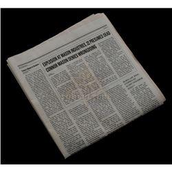 "Timeless (TV) – ""Mason Industries Explosion"" Newspaper – TL119"