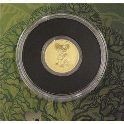 2015 Mini Koala Gold Coin Perth Mint Australia .5 Grams .9999 Pure Gold