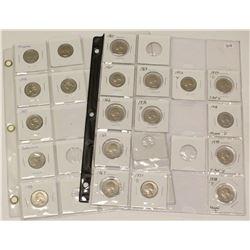 2x Sheets of USA Washington Quarters 25 Cent Coins 1965-97