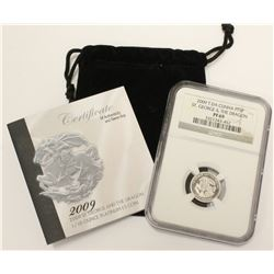 2009 1/10 Ounce .999 Platinum £5 Coin NGC PF69 Tristan da Cunha St. George & Dragon