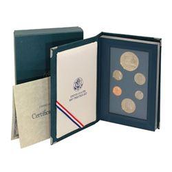 1987-S Proof USA Silver Dollar Prestige 6 coin Set Constitution Box & COA US Mint