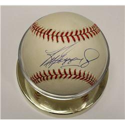 Ken Griffey Jr. Autographed Rawlings MLB Baseball & Display Holder Mariners Reds Sox