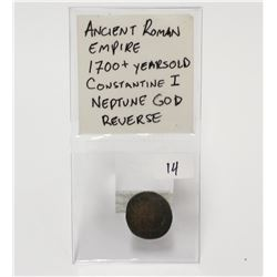 Ancient Roman God Neptune Coin 1700+ Years old Constantine I