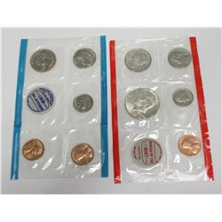 1970 USA Brilliant Uncirculated Coin set Silver Kennedy Half P D & S Mints