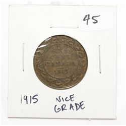 1915 Canada Large Cent Coin King George V