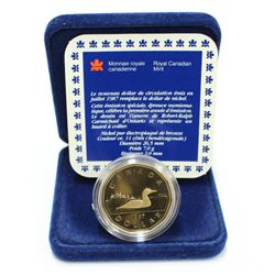 1987 Canada Special Proof Loonie $1.00 Dollar Coin