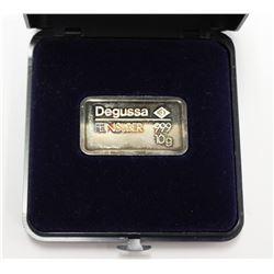 .999 Pure Silver 10g Fractional Bar Degussa Feinsilver Bullion with display box