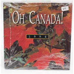 1994 Oh Canada! Uncirculated Coin Set Sealed