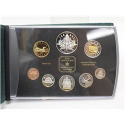 2000 Canada Silver Double Dollar Proof Set 8x Coins