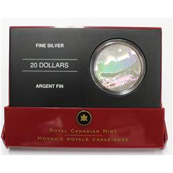2006 Canada .9999 Fine Silver $20 Saddledome Hologram Coin