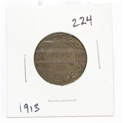 1913 Canada Large One Cent Coin King George V