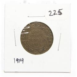 1914 Canada Large One Cent Coin King George V