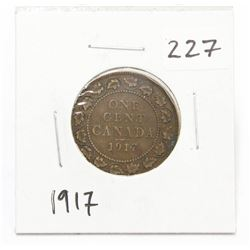 1917 Canada Large One Cent Coin King George V