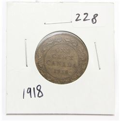 1918 Canada Large One Cent Coin King George V