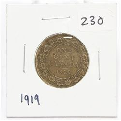 1919 Canada Large One Cent Coin King George V