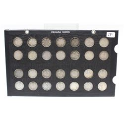 1902-1935 Canada 10 Cent Silver Coins Complete Date Set 28x Coins All Nice