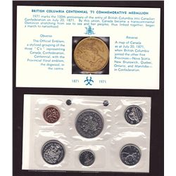 1971 Canada Prooflike Coins Set & Centenary Confederation Medallion