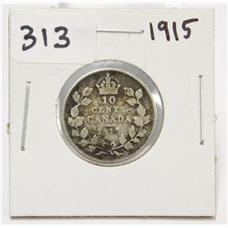 1915 Canada 10 Cent Silver Coin King George V