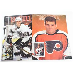 2x 1992-93 Beckett Hockey Monthly Magazines issue #23 & 37