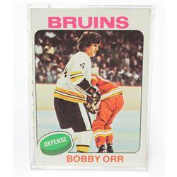 1975 Topps Bobby Orr Boston Bruins NHL Hockey Card #100