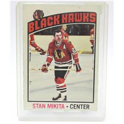 1976 O-Pee-Chee Stan Mikita Black Hawks NHL Hockey Card #225