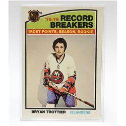 1976 O-Pee-Chee Bryan Trottier New York Islanders NHL Hockey Card #67
